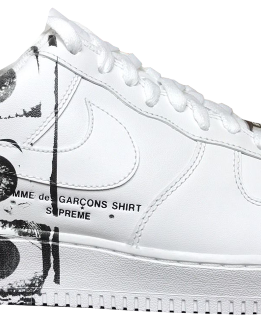 Supreme x Comme des Garcons Shirt x Nike Air Force 1 Low White
