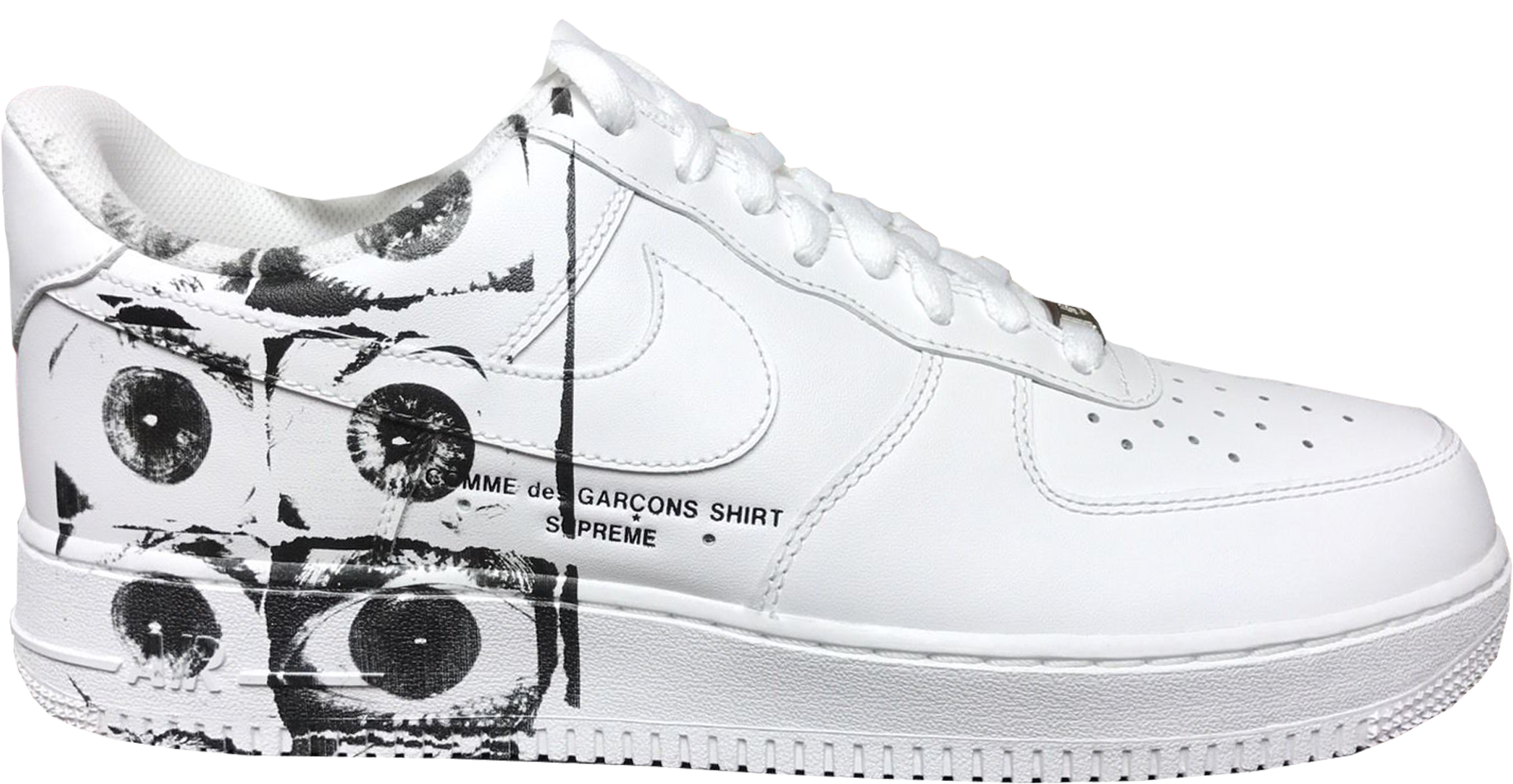 Supreme X Comme Des Garcons Shirt Nike Air Force 1 Low White