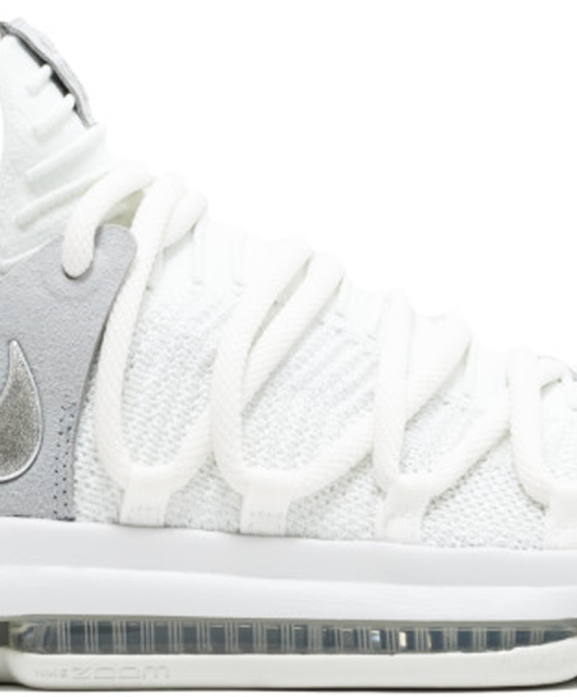 Nike KD 10 Still KD Chrome Pure Platinum