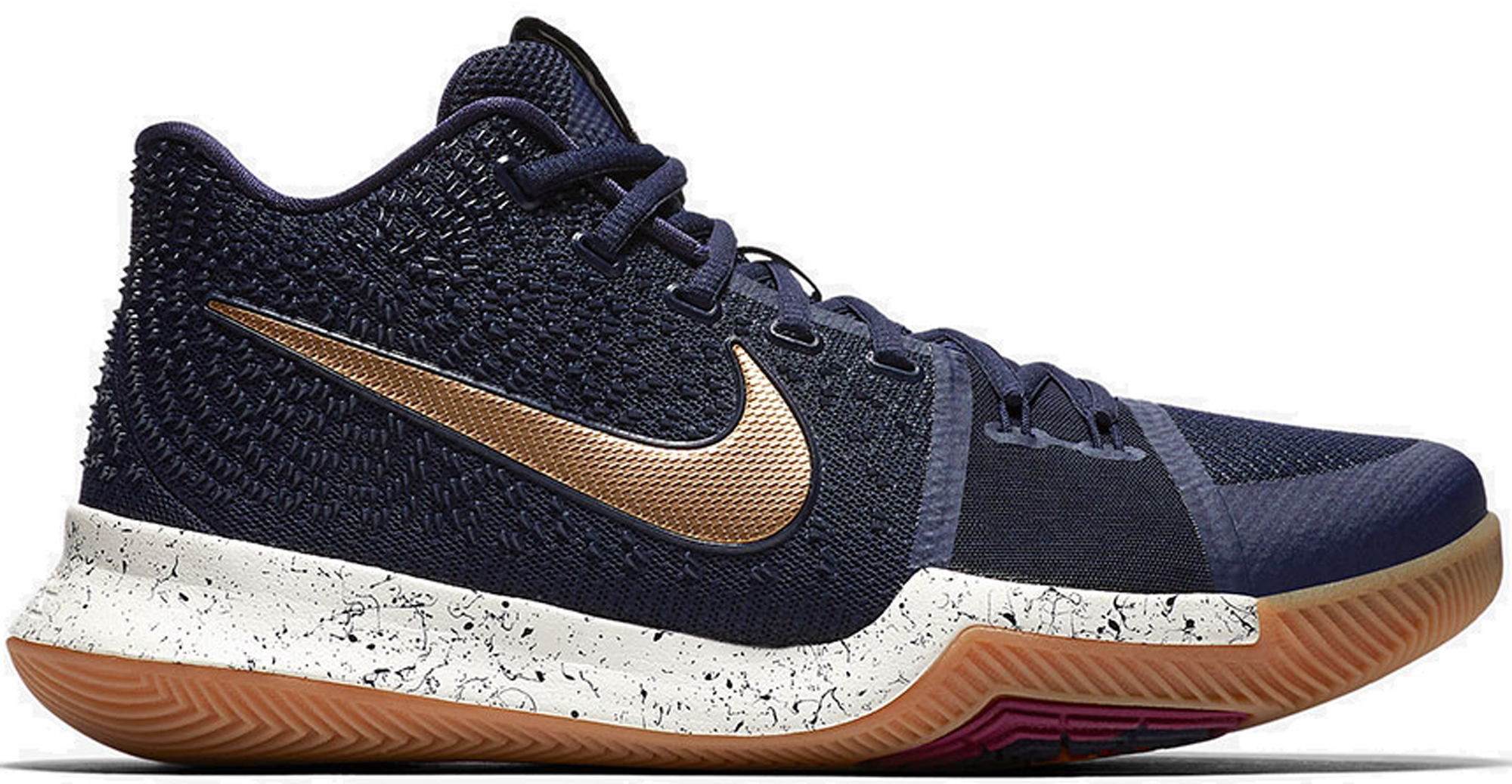 timeless design e09dc 0976f Nike Kyrie 3 Obsidian Metallic Gold 2017 Finals