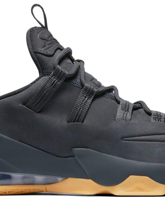 Nike LeBron 13 Low Premium Suede Anthracite Gum