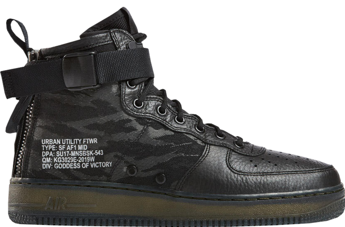 Nike SF AF1 Mid Black Cargo Khaki Air Force 1