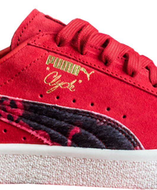 Packer Shoes x Puma Clyde Cow Suit Red