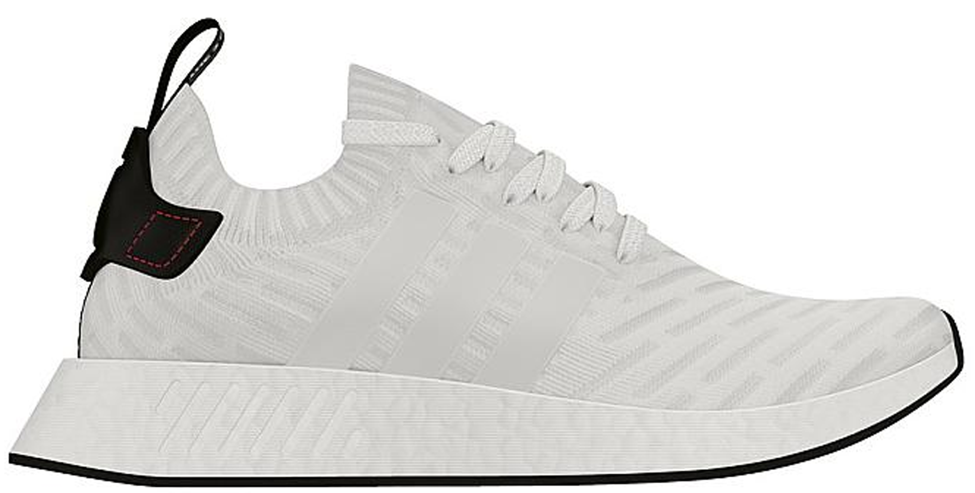 Cuerda maletero toque  adidas NMD R2 White Black - StockX News