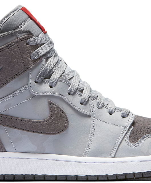 Air Jordan 1 Retro High Premium Camo 3M Wolf Grey Dark Grey