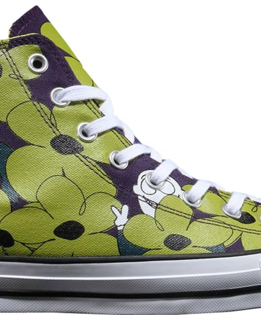 Dinosaur Jr. x Converse Chuck Taylor All-Star Hi Floral Green Purple