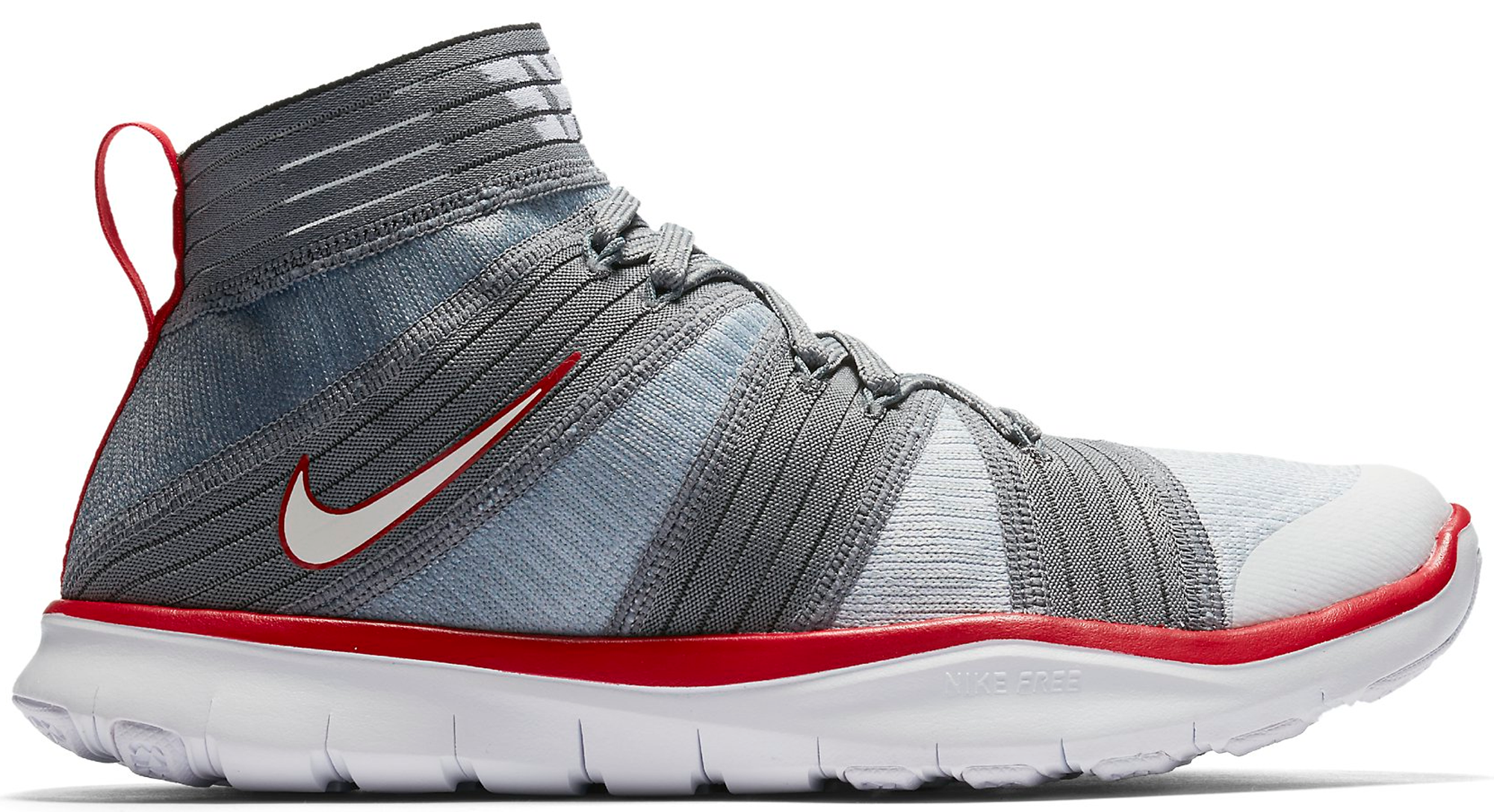 7647b13d360e Nike Free Train Virtue Hustle Hart Day Cool Grey White Sport Red Kevin Hart