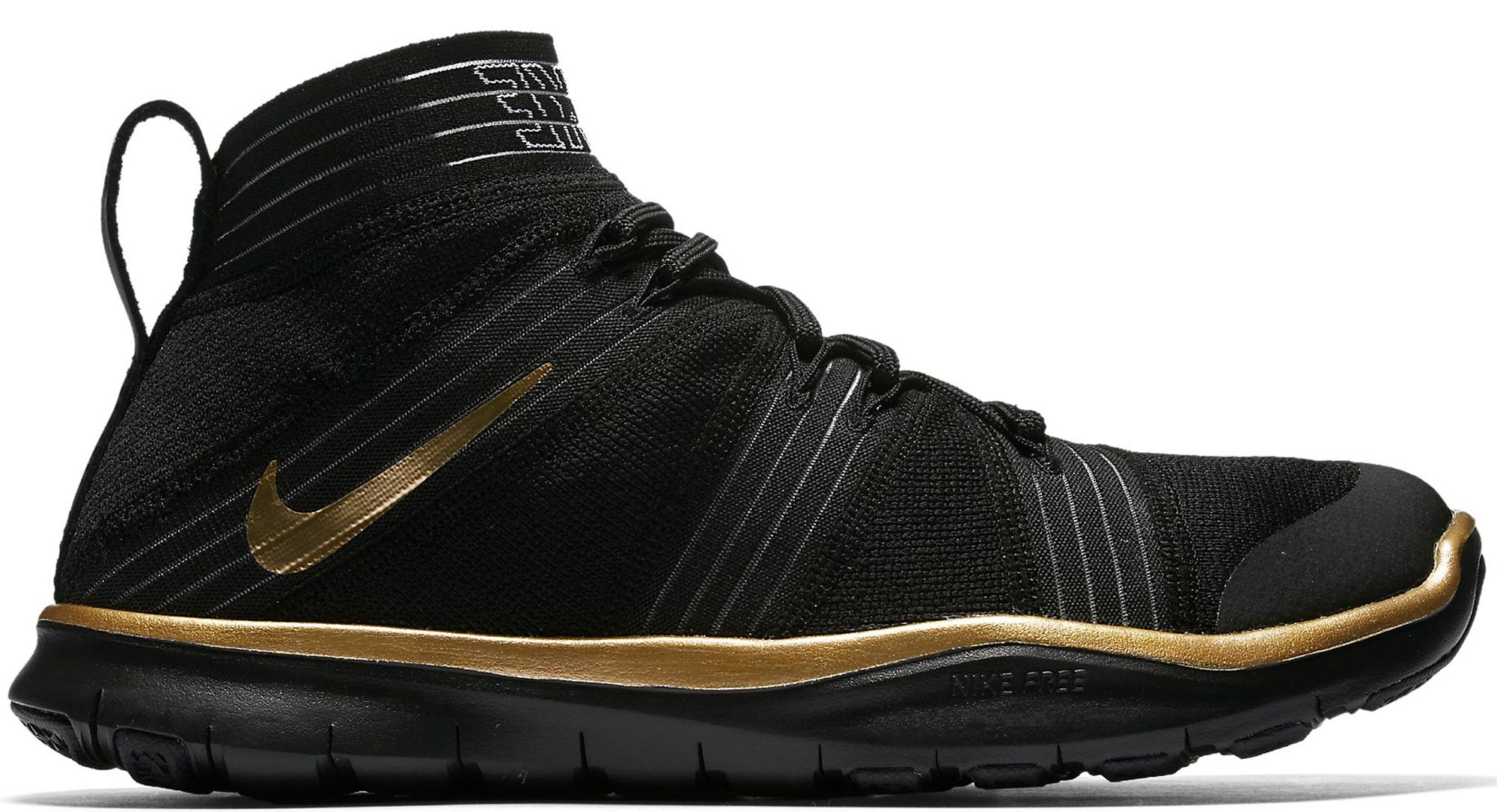 Nike Vertu Train Gratuit Noir Et Or