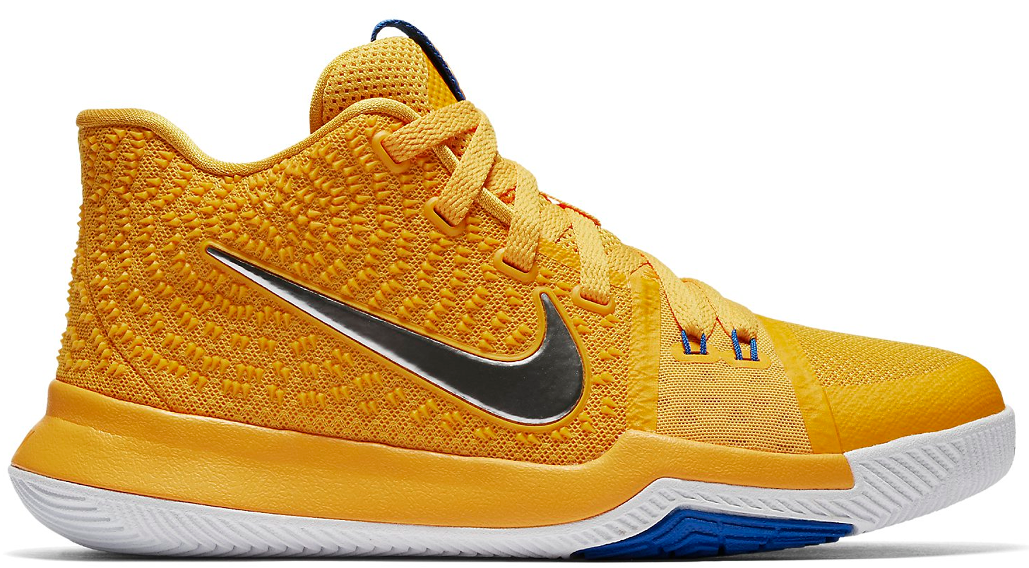 0db54700cc87 Nike Kyrie 3 GS University Gold Mac and Cheese Kids