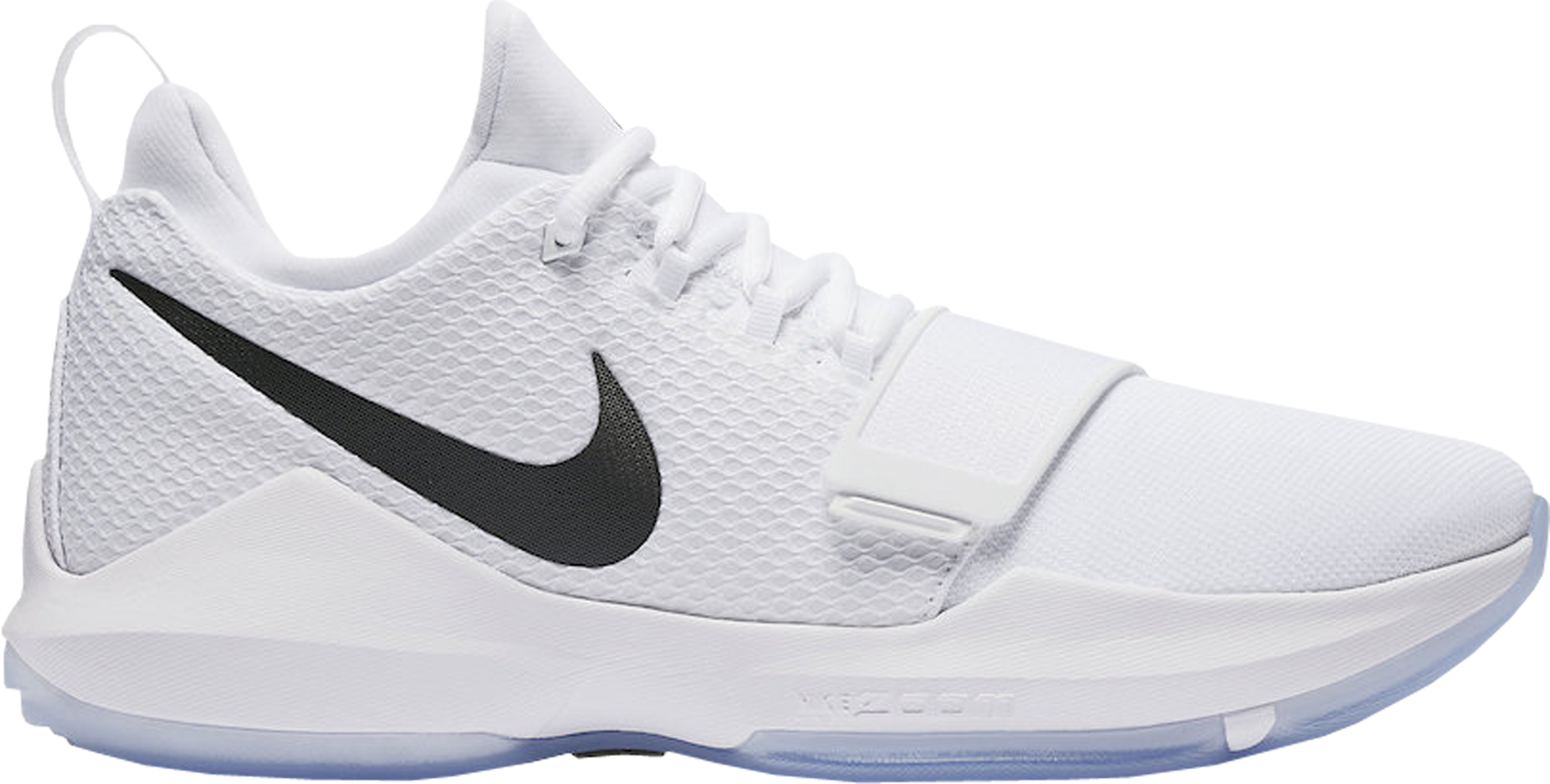 378239992ec8 Nike PG 1 White Black Chrome Paul George White Ice