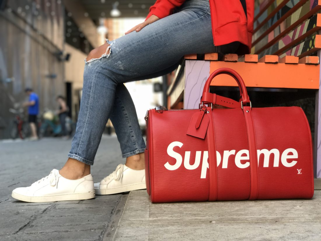 a944c605b499 The Louis Vuitton x Supreme collaboration dropped earlier this year and  there s still no better place to get it than StockX. First unveiled in  January