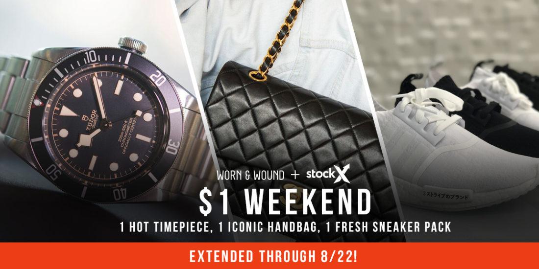 44e69af1 $1 Weekend: 1 Hot Handbag, 1 Iconic Timepiece, 1 Fresh Pack of Kicks ...