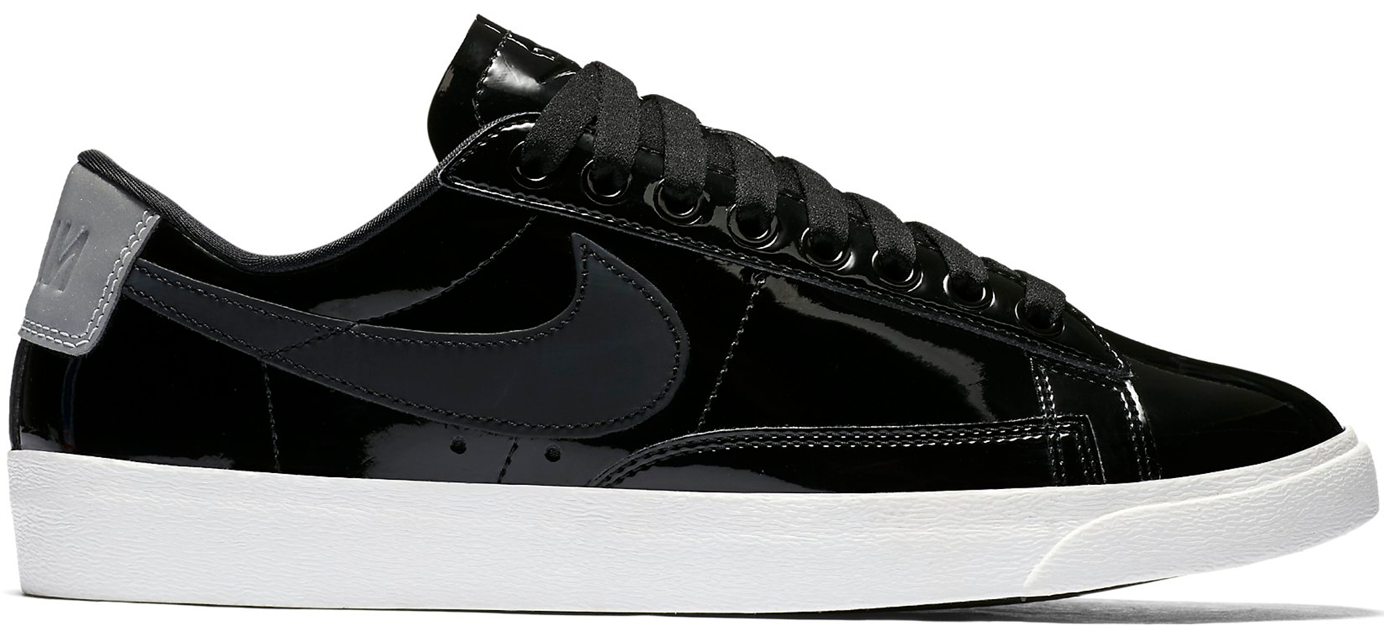 women 39 s nike blazer low black patent. Black Bedroom Furniture Sets. Home Design Ideas