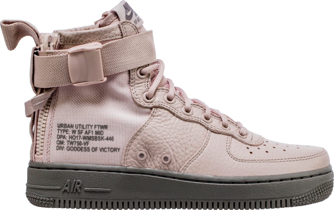 Womens Nike SF Air Force 1 Mid Silt Red