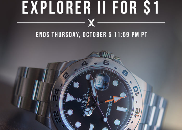Your Dollar Could Get You A Rolex Explorer II