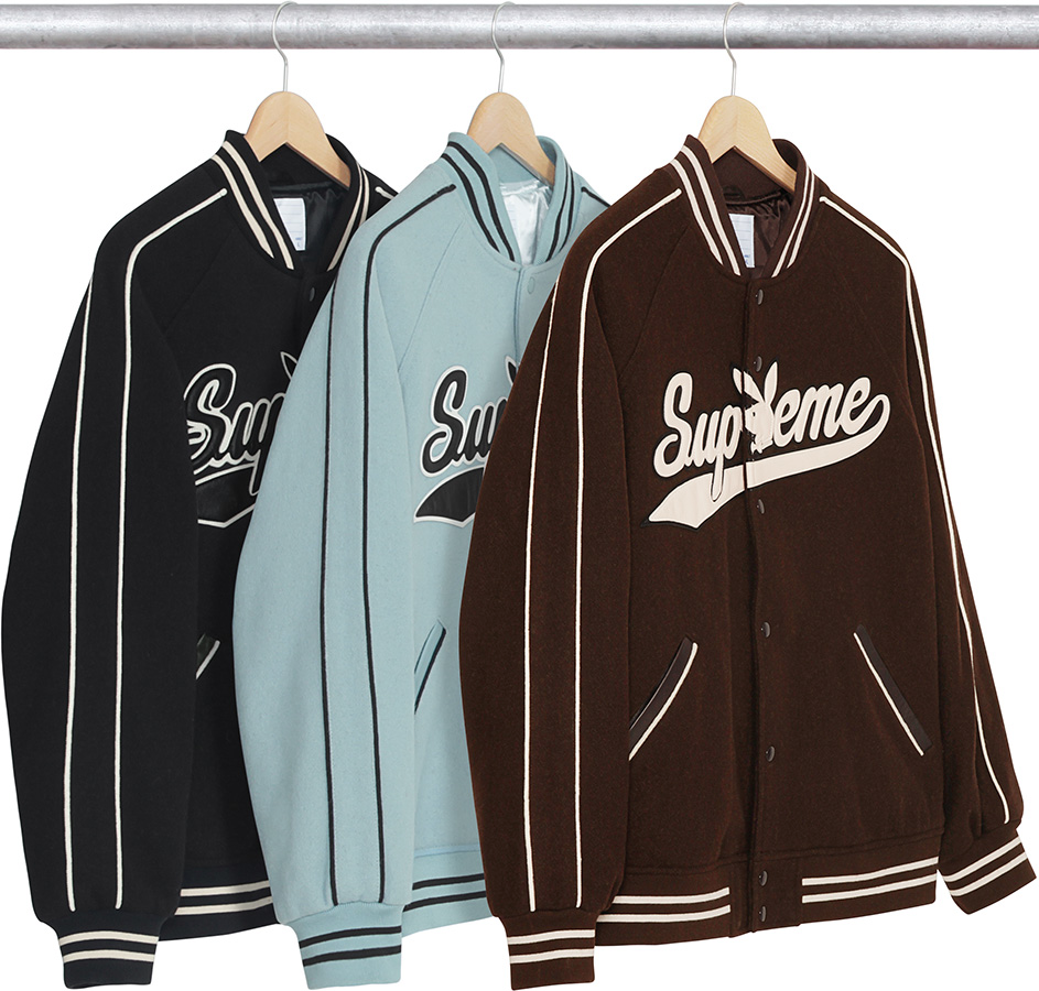 da19b0ac1f00 Best Supreme Clothing of 2017 - Supreme Playboy Wool Varsity Brown Jacket