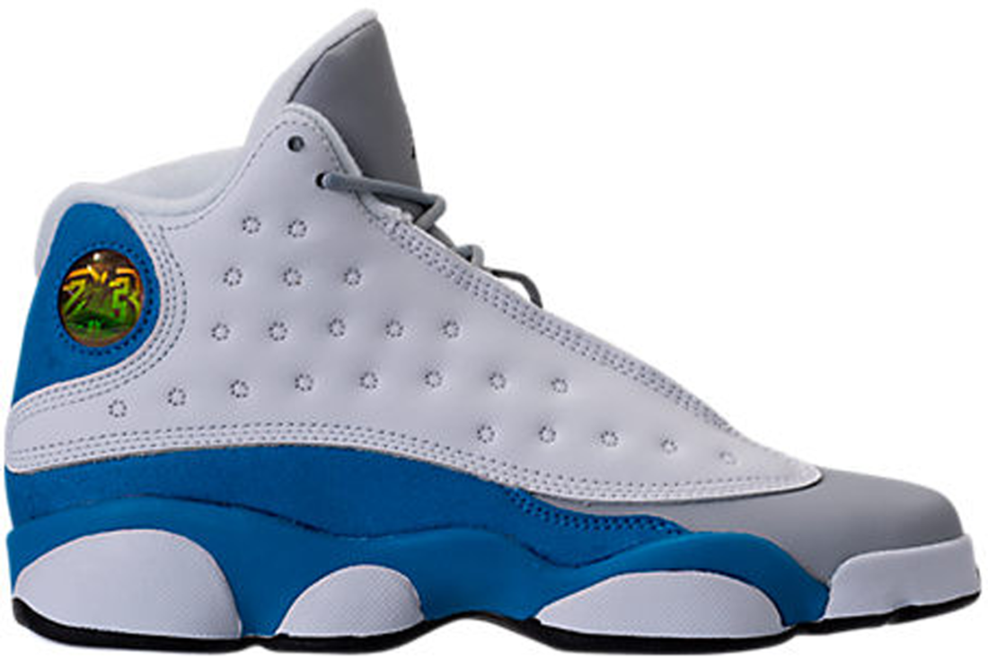 hot sale online 974c8 60eb7 Girls Air Jordan 13 Italy Blue Retro GG