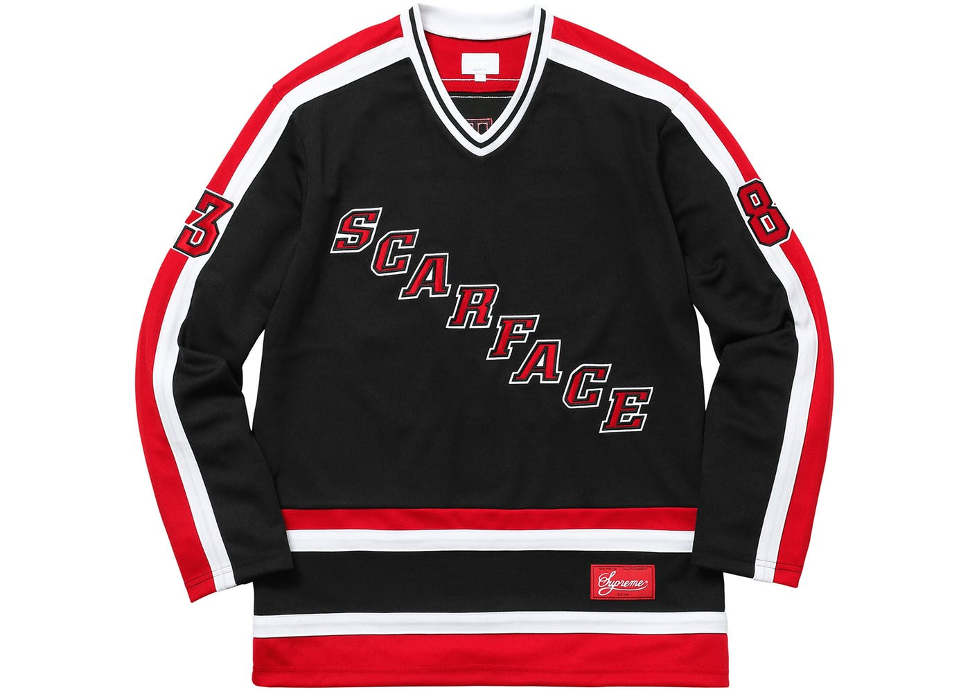 Black Supreme Scarface Hockey Jersey - StockX News c502e05c2