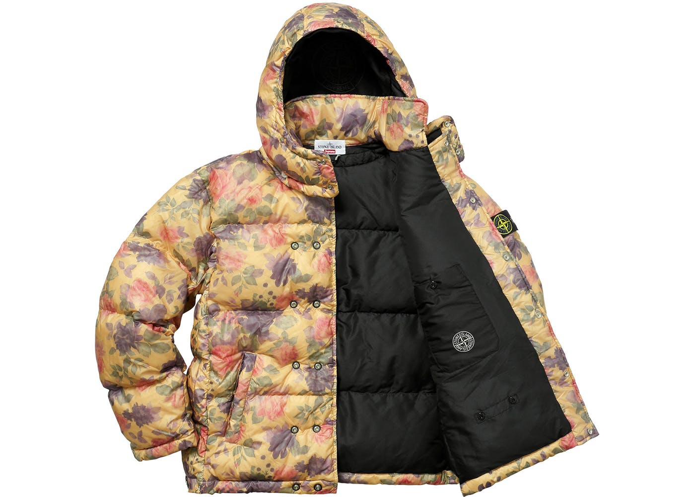 free shipping f08da 5ba82 Copper Supreme Stone Island Puffy Jacket
