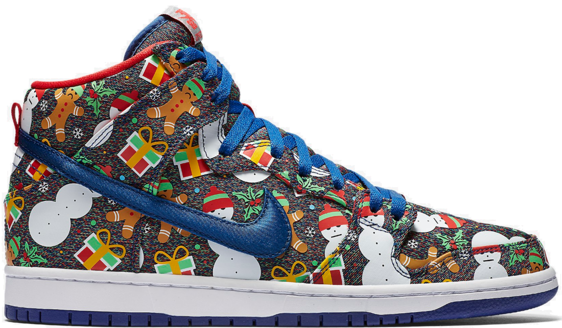 watch 67a22 17fc5 Concepts x Nike SB Dunk High Ugly Christmas Sweater (2017)