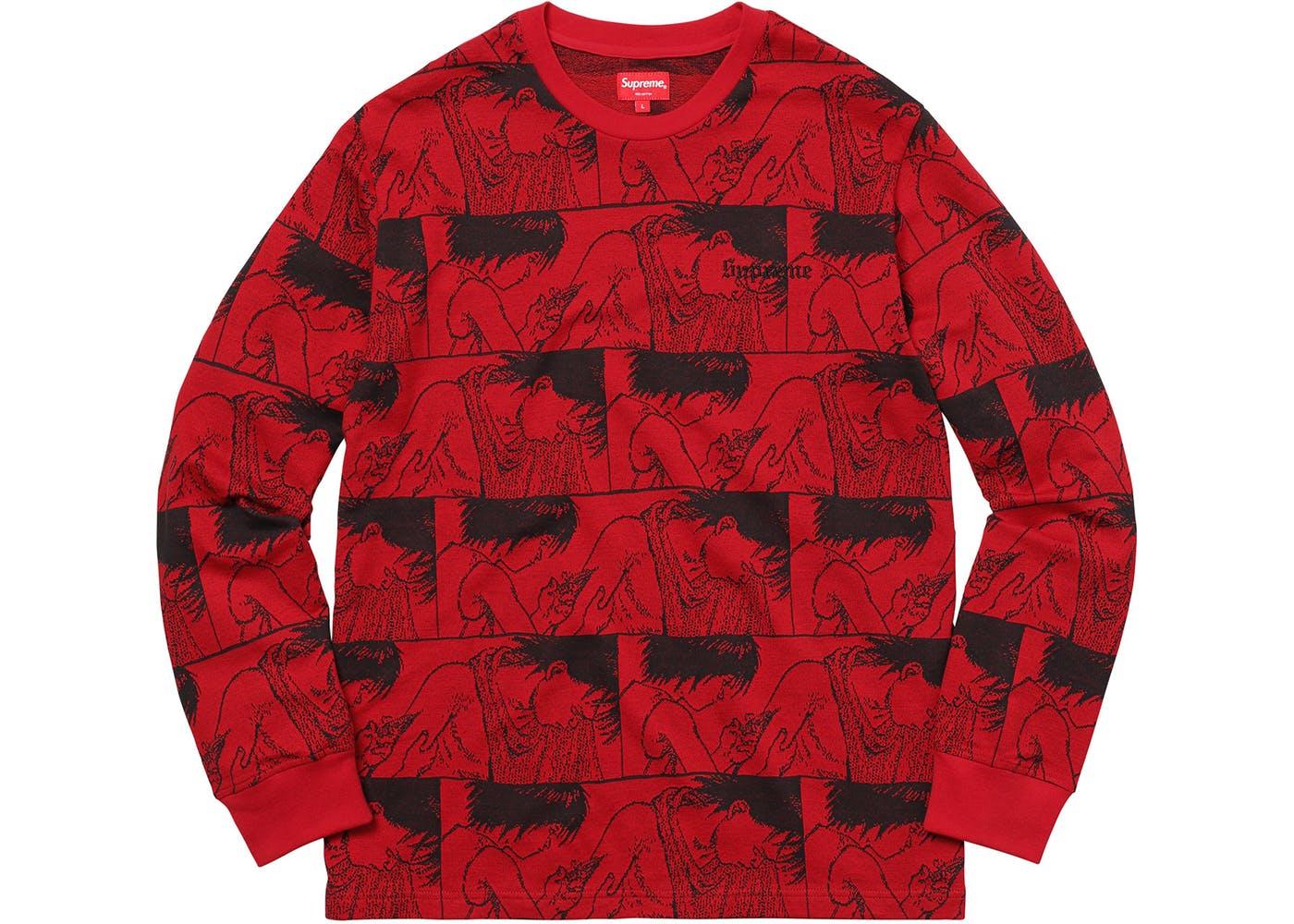 6de3fc192d8 Red Supreme AKIRA Syringe Jacquard Long Sleeve - StockX News