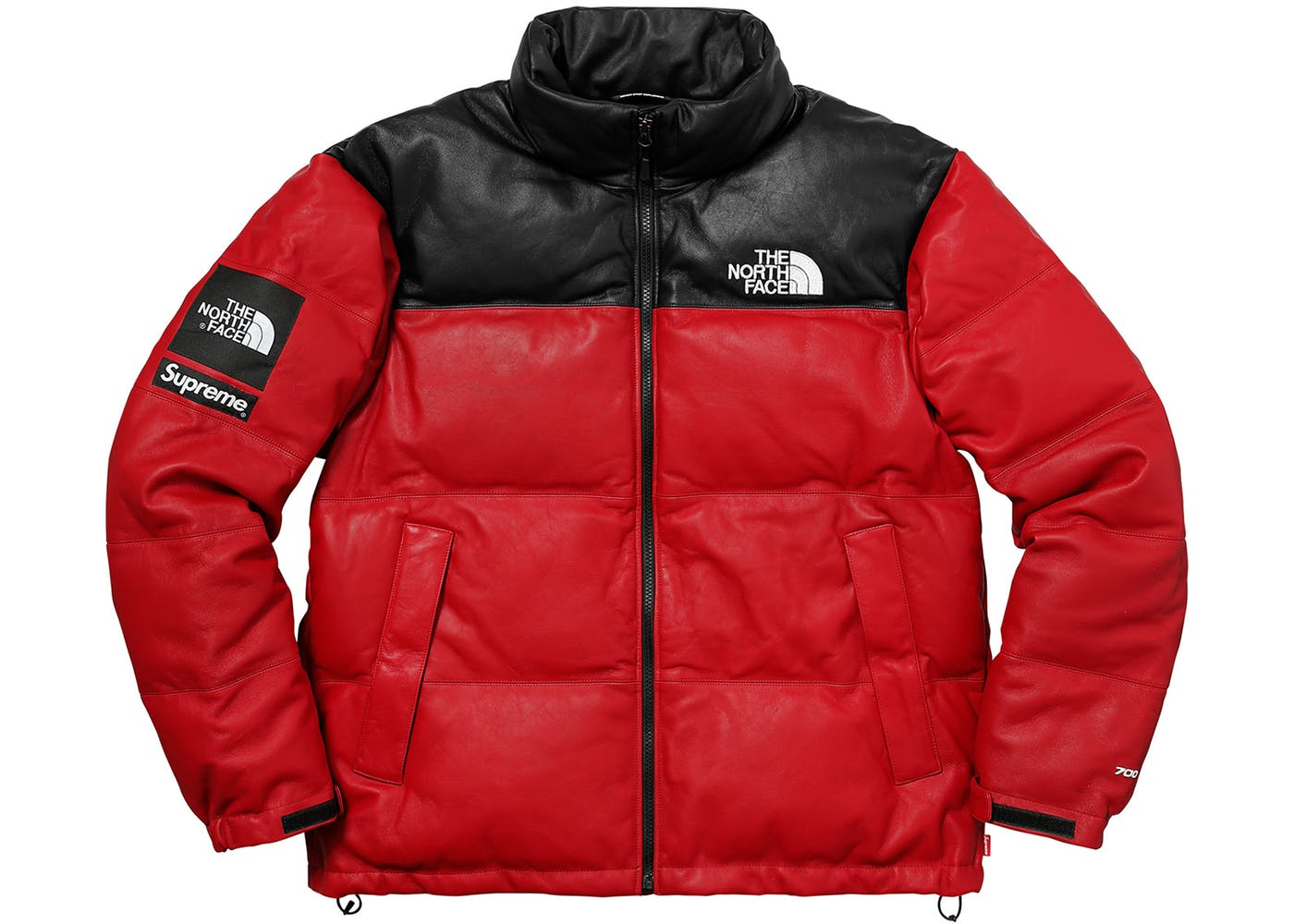 Red Supreme The North Face Leather Nuptse Jacket - StockX News 96a564bb6