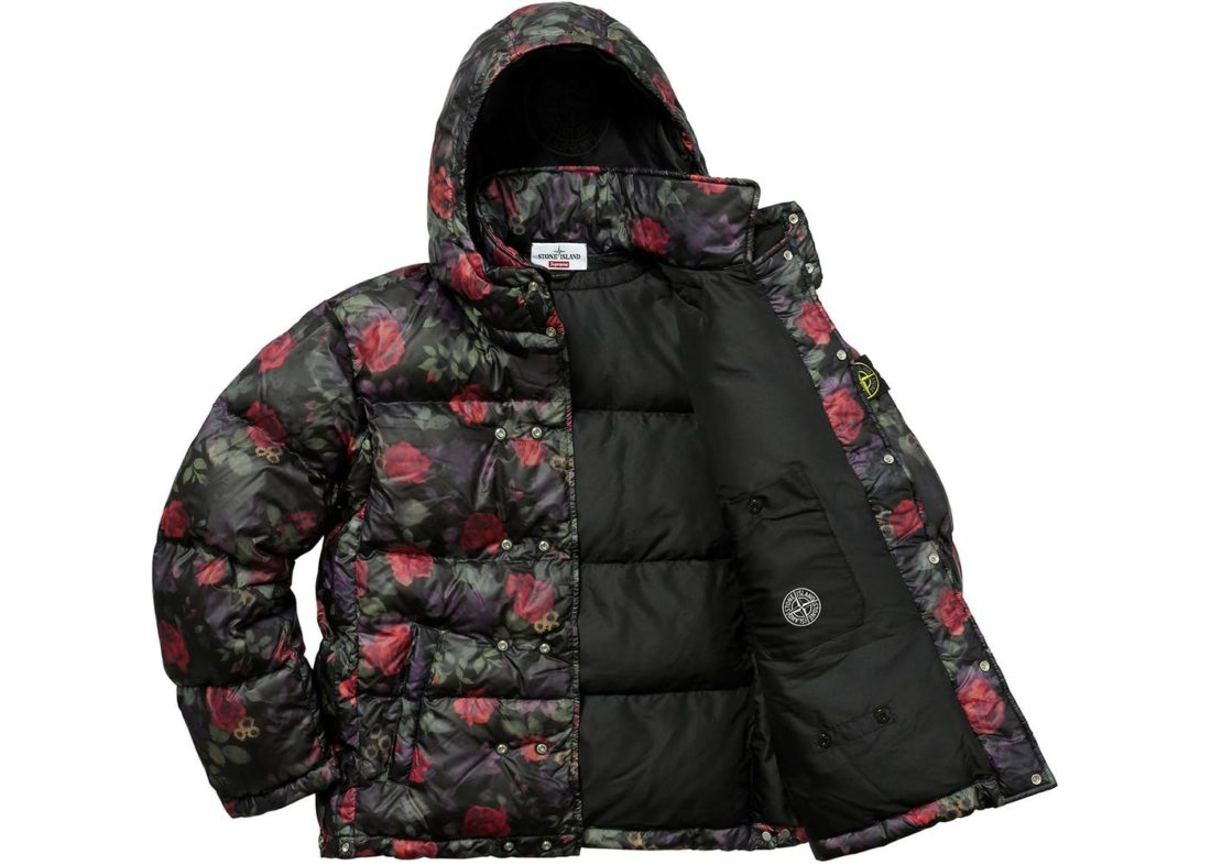 black supreme stone island puffy jacket stockx news. Black Bedroom Furniture Sets. Home Design Ideas