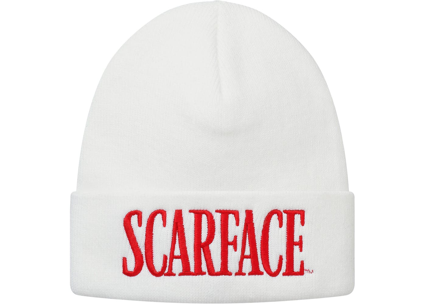 White Supreme Scarface Beanie Stockx News