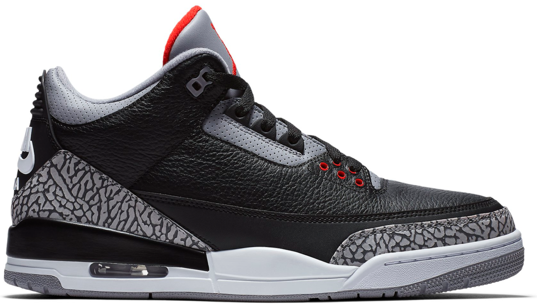 various colors 8c09e ee30c Air Jordan 3 Black Cement 2018