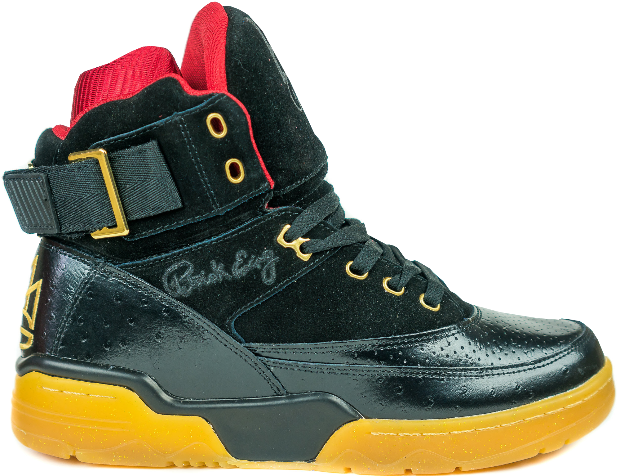 Mens PATRICK EWING 33 HI BLACK GUM MEN'S RETRO COLLECTION RELEASE DATE DECEMBER 18TH 2015 AVAILABLE NOW For Sales Size 41