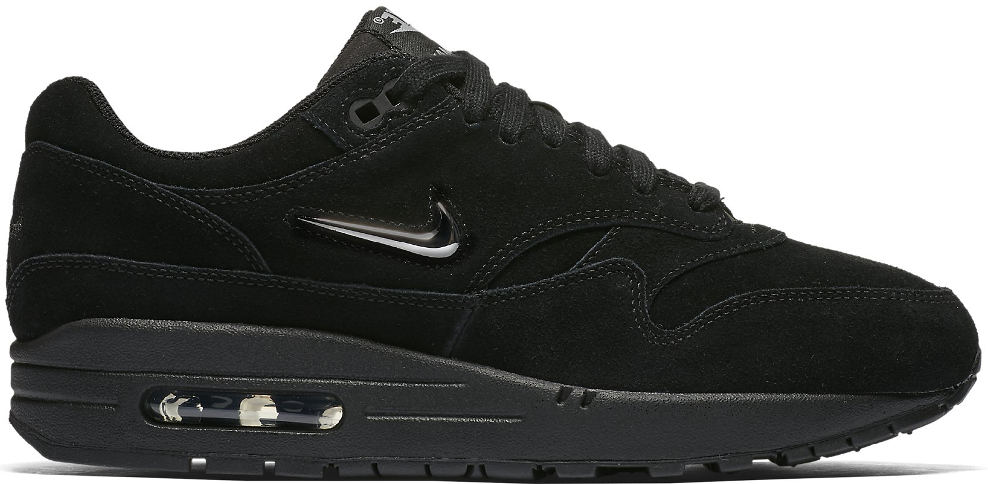 women 39 s nike air max 1 jewel black. Black Bedroom Furniture Sets. Home Design Ideas