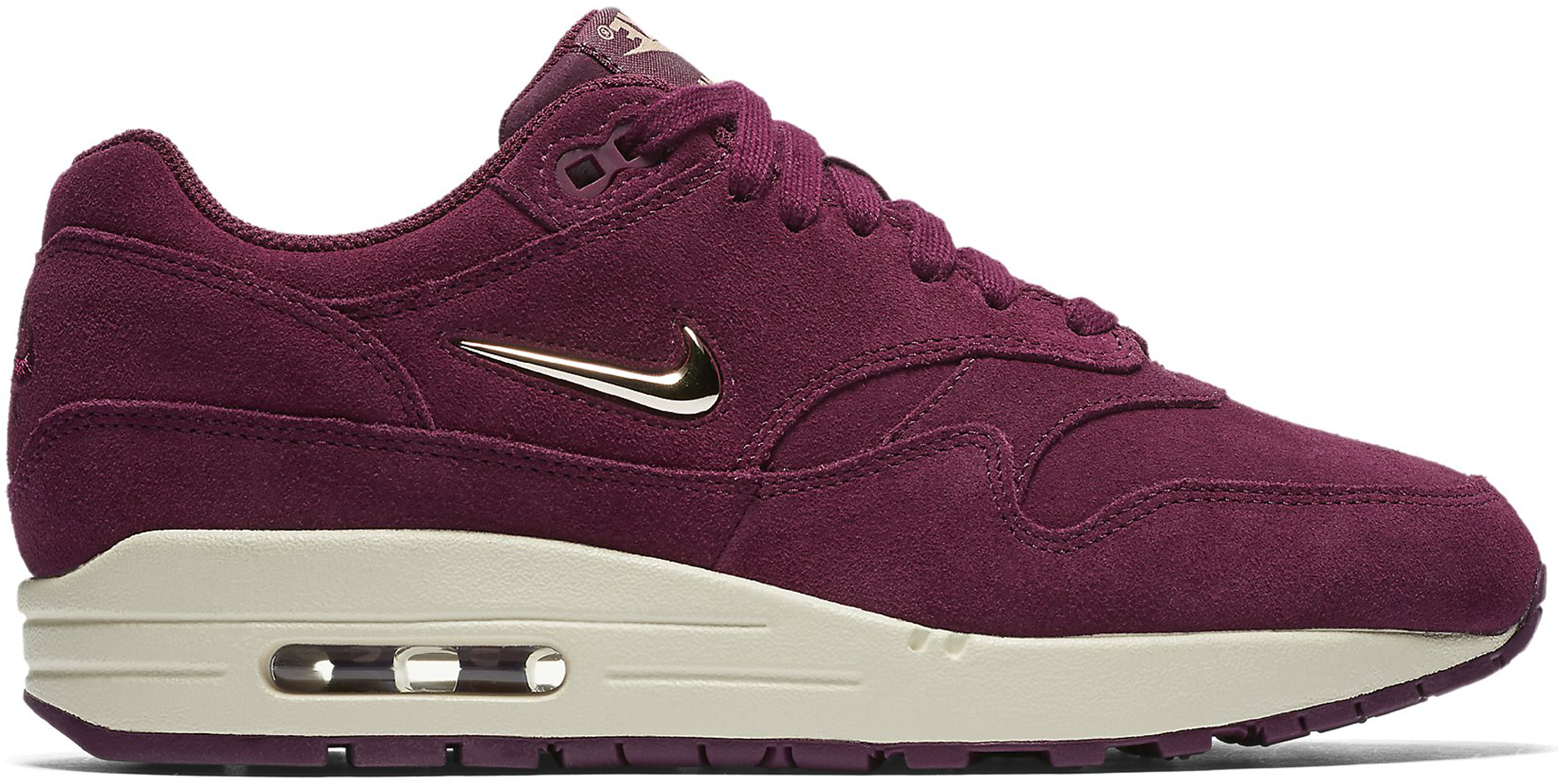 women 39 s nike air max 1 jewel bordeaux. Black Bedroom Furniture Sets. Home Design Ideas