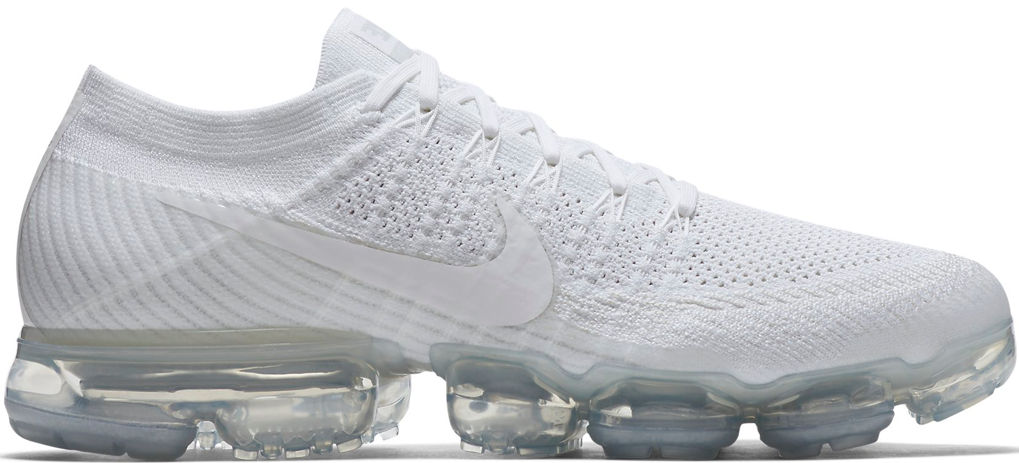 Nike Air VaporMax Flyknit Triple White - StockX News 8d819c42b7a8