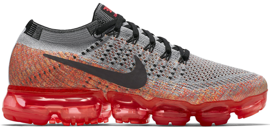 Women s Nike Air VaporMax Flyknit Wolf Grey Bright Crimson - StockX News 219b958a9a