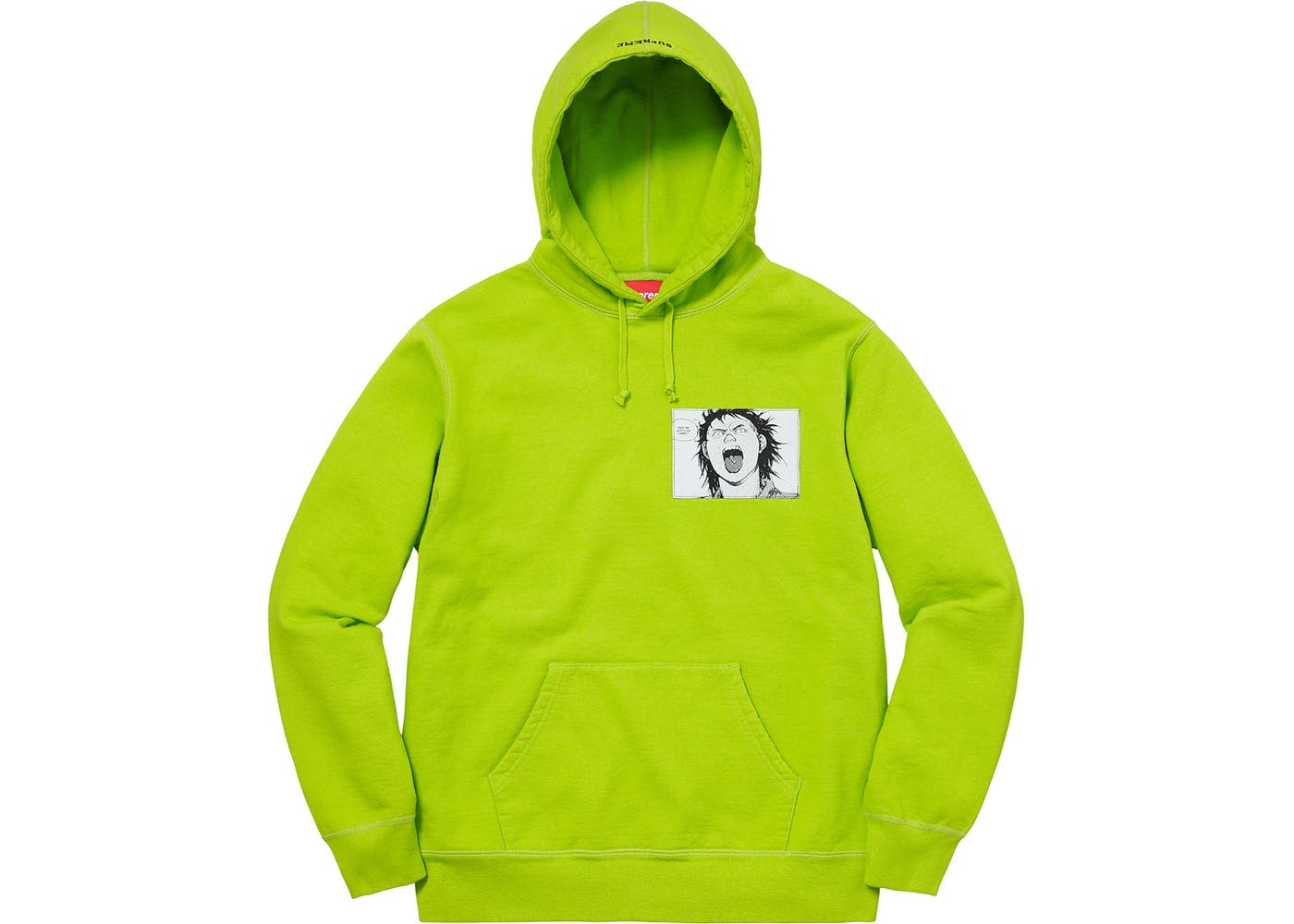 8adc0f3672d5 Supreme AKIRA Patches Hooded Sweatshirt Lime - StockX News