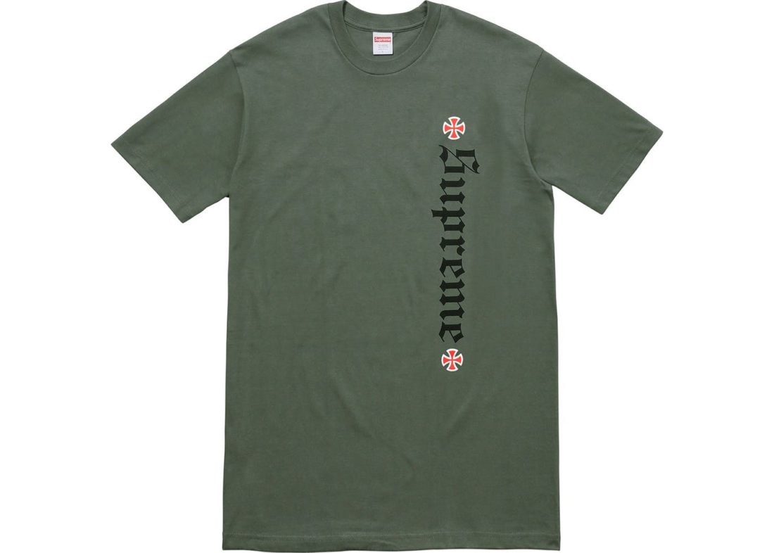Supreme Independent Old English Tee Olive Green