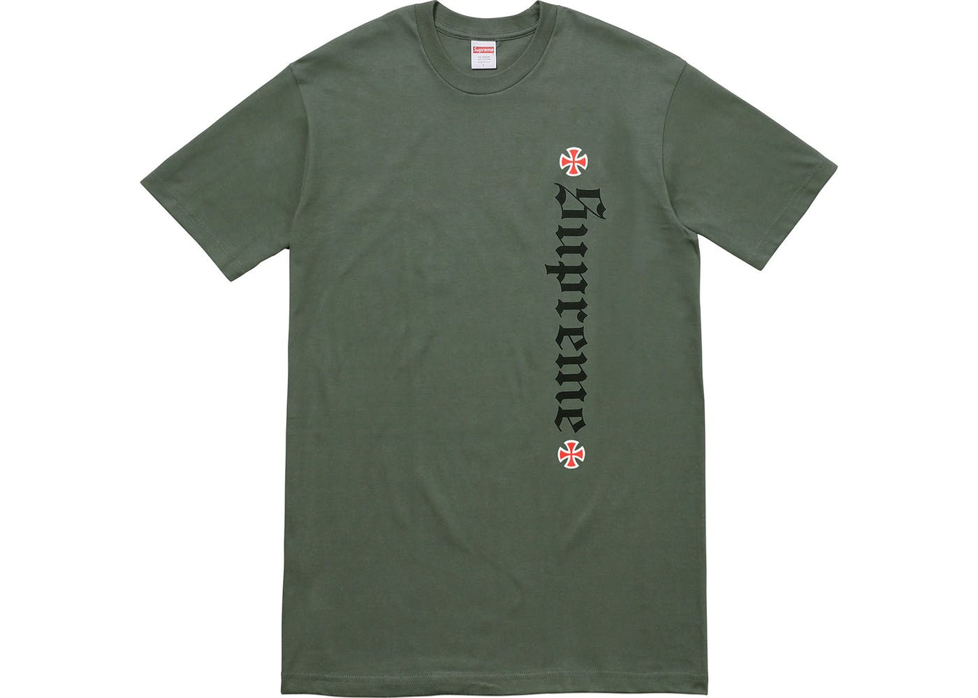 f582dfc721b5 Supreme Independent Old English Tee Olive Green - StockX News