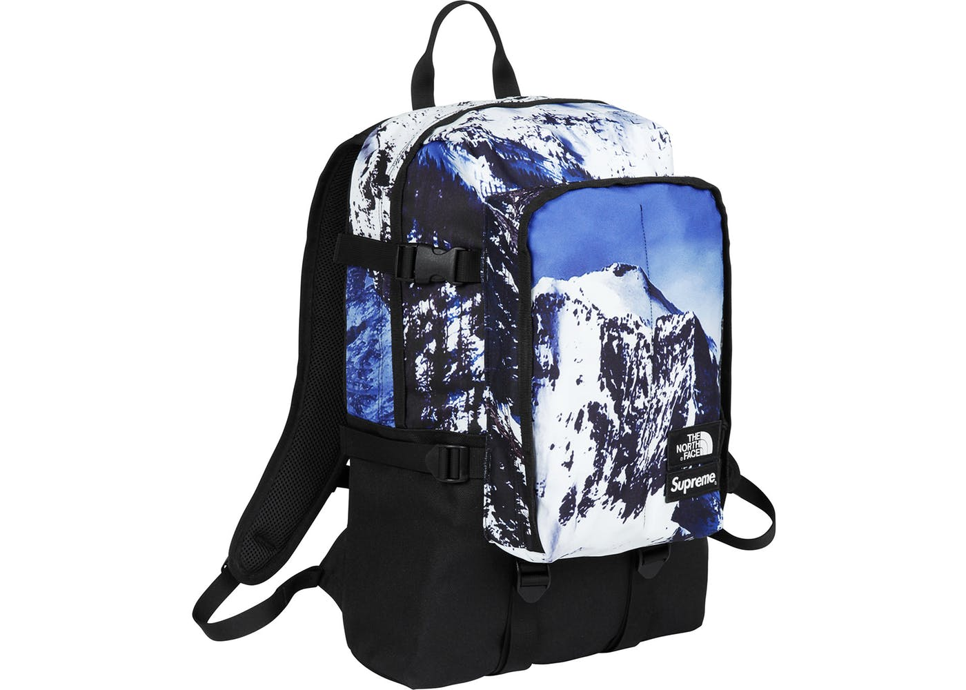 52176a23a Supreme X North Face Backpack Yellow And Blue - CEAGESP