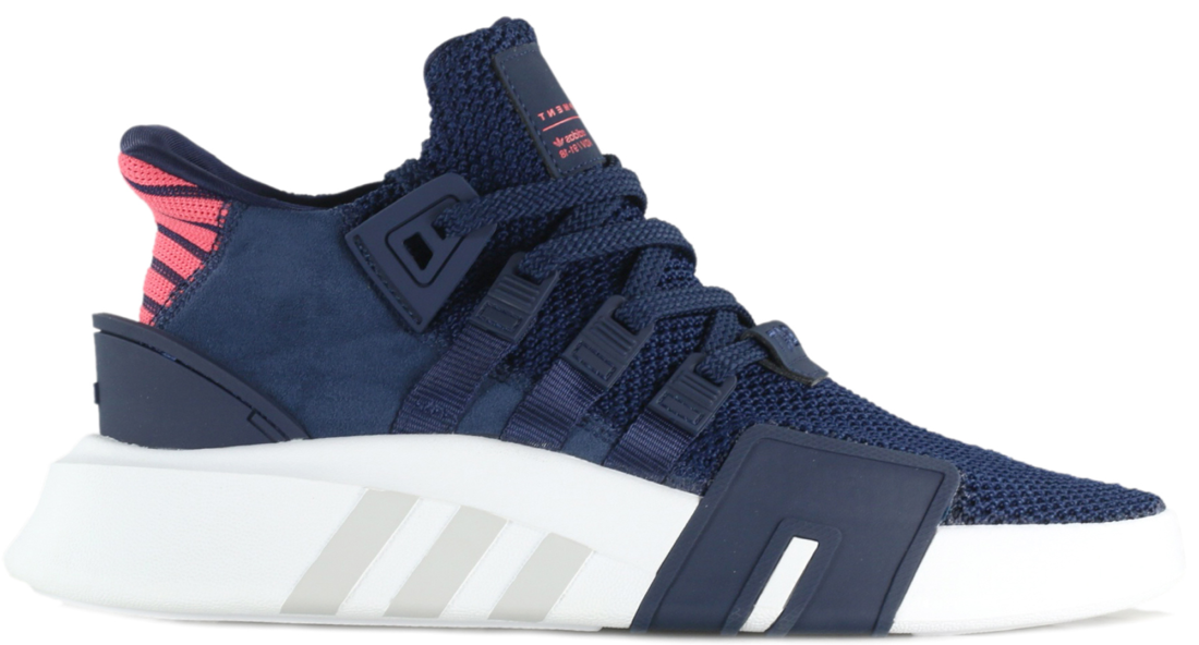 b2bccc57bbe430 adidas EQT Support Basketball Adv Collegiate Navy Real Coral ...