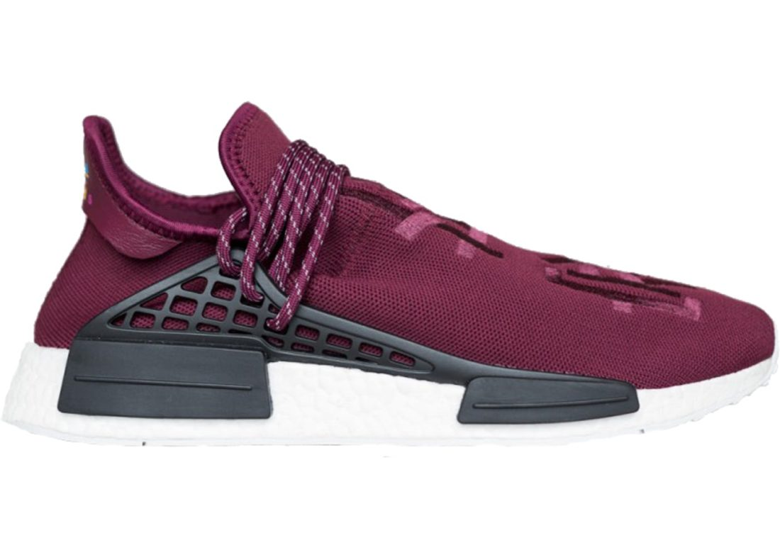 65042cd7e56a9 Adidas NMD HU Pharrell Williams Friends and Family Burgundy