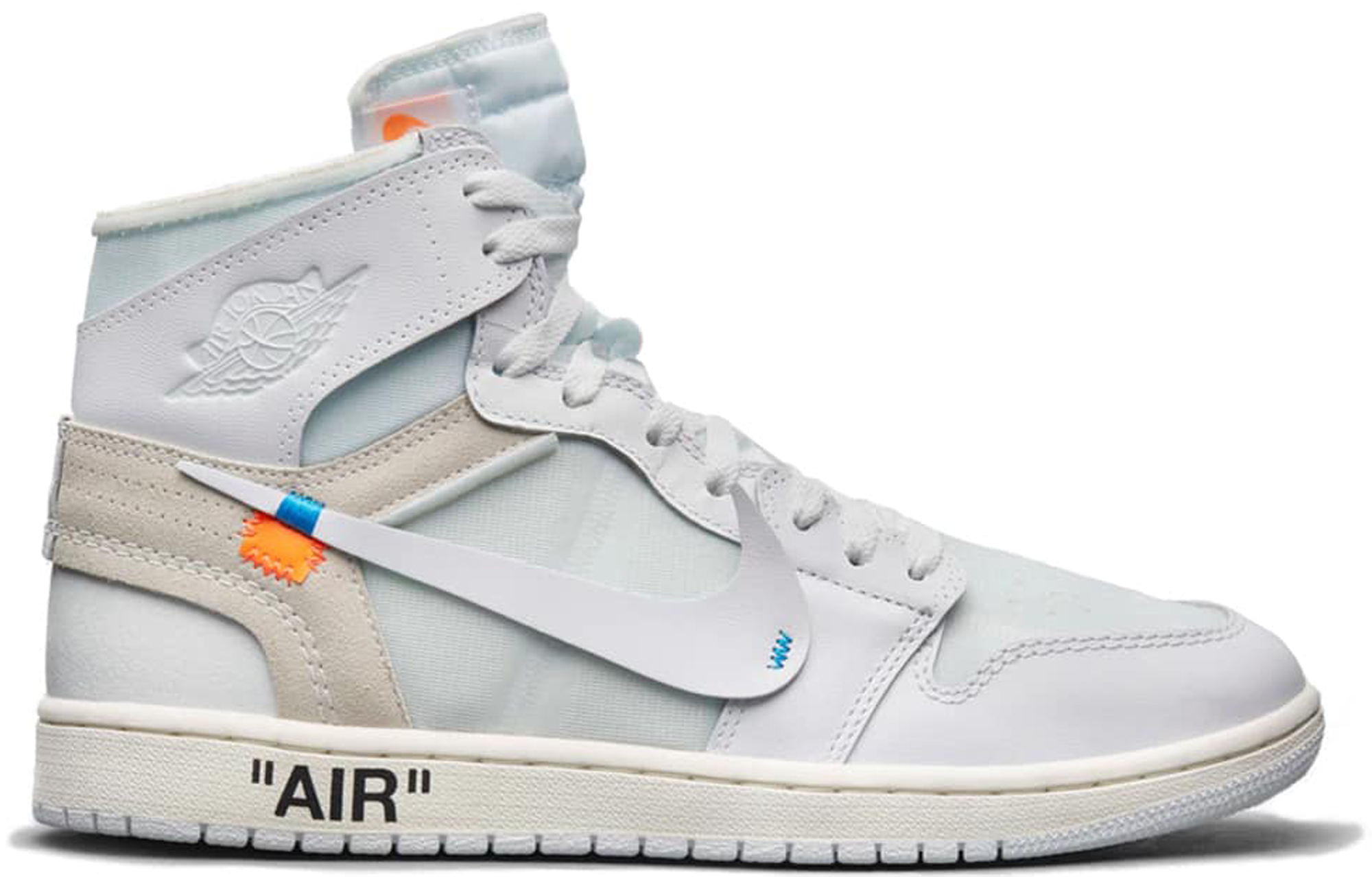 air jordan 1 x of white
