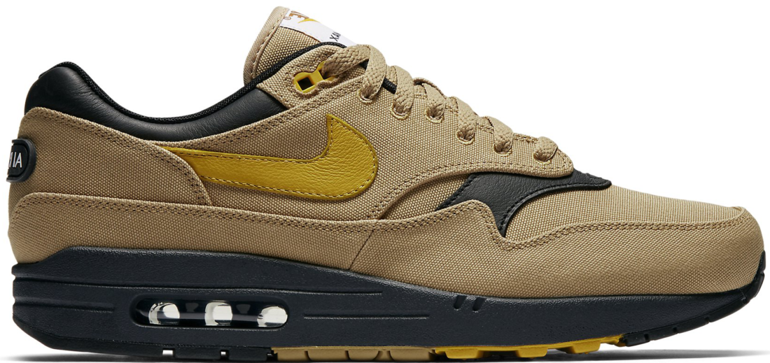 newest b958e 72089 Nike Air Max 1 Premium Air Max 93 Logo Elemental Gold