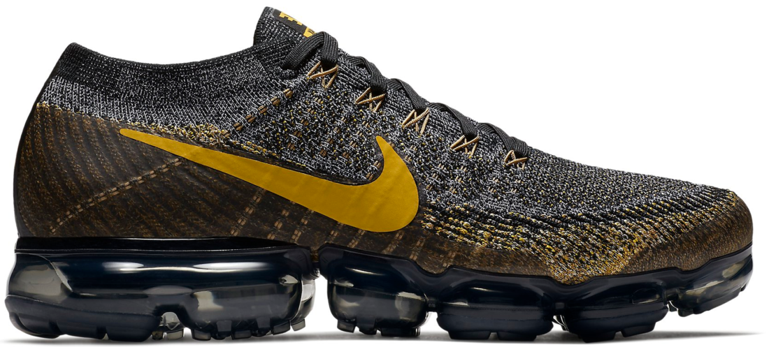 info for e1436 23027 Nike Air VaporMax Flyknit Black Mineral Gold - StockX News