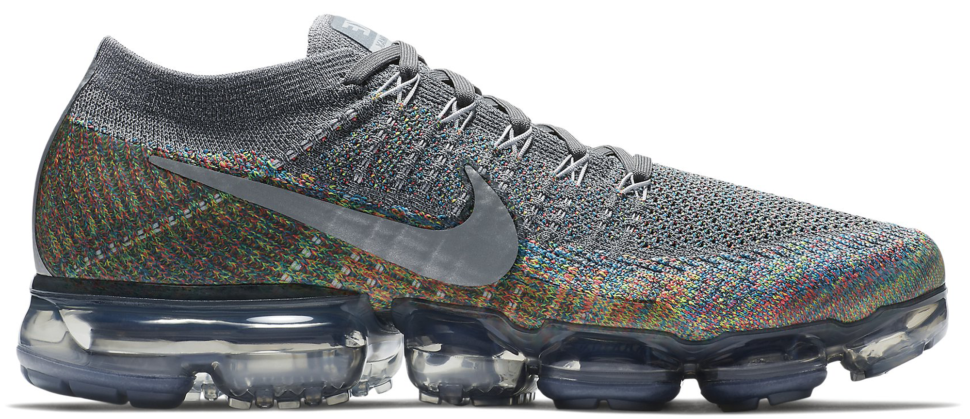 2018 Nike Air VaporMax Flyknit Color Gray