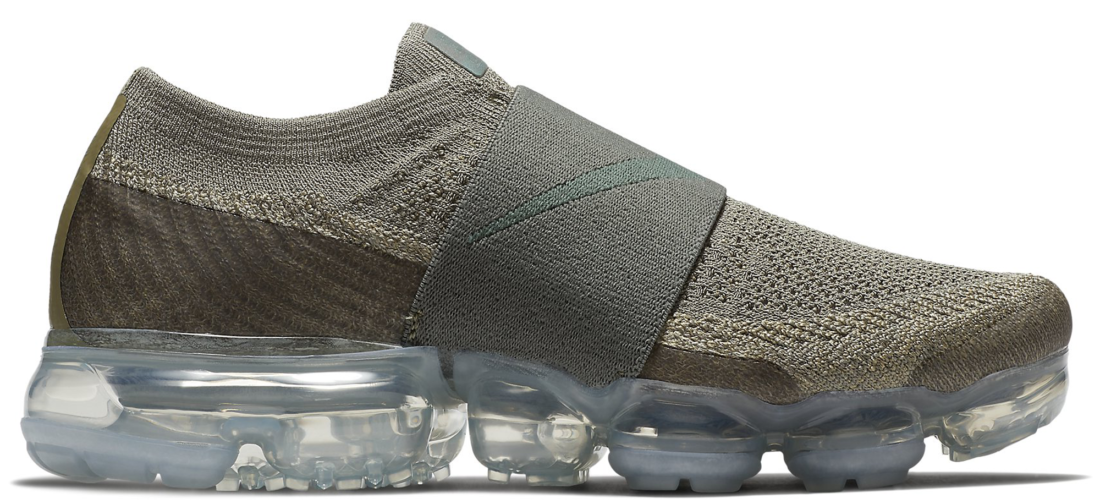 49aaf10a4b Women's Nike Air VaporMax Flyknit Moc Dark Stucco Clay Green ...