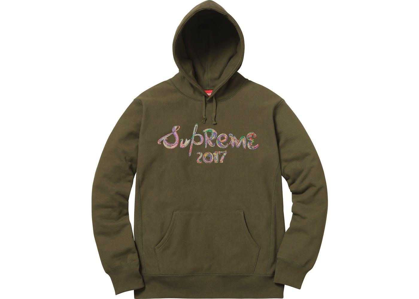 89830825d653 Supreme Brush Logo Hoodie Dark Olive - StockX News