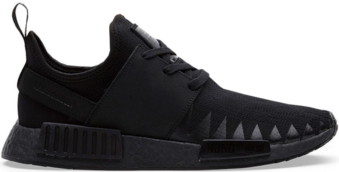 outlet store 170fd 3b2e3 adidas NMD R1 Neighborhood Triple Black