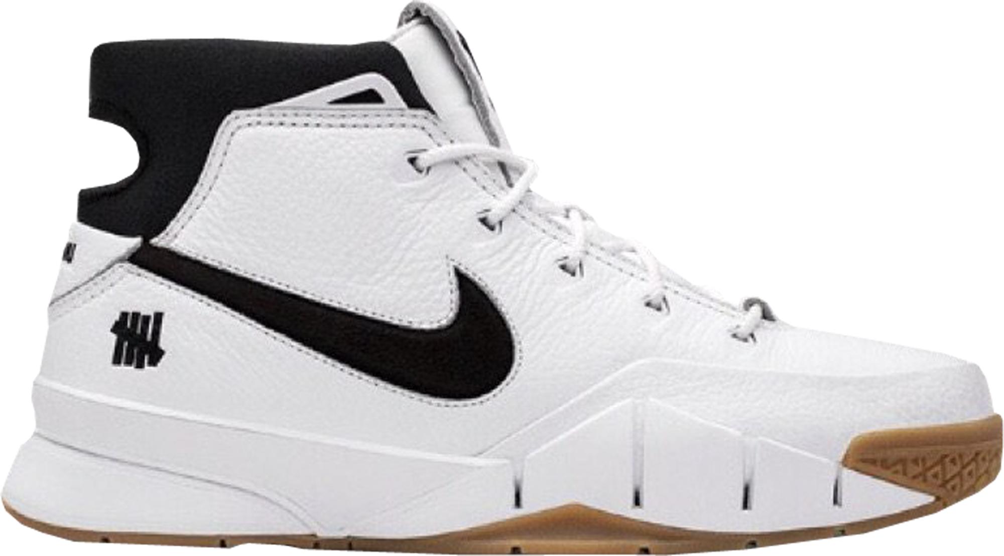 8b669312de2f Undefeated Nike Kobe 1 Protro White