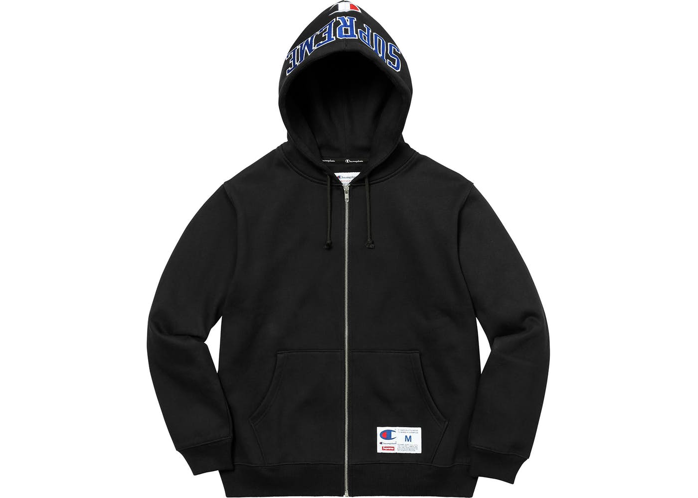 582e1401a6e5 Supreme Champion Arc Logo Zip Up Sweat Black Fall Winter 2017