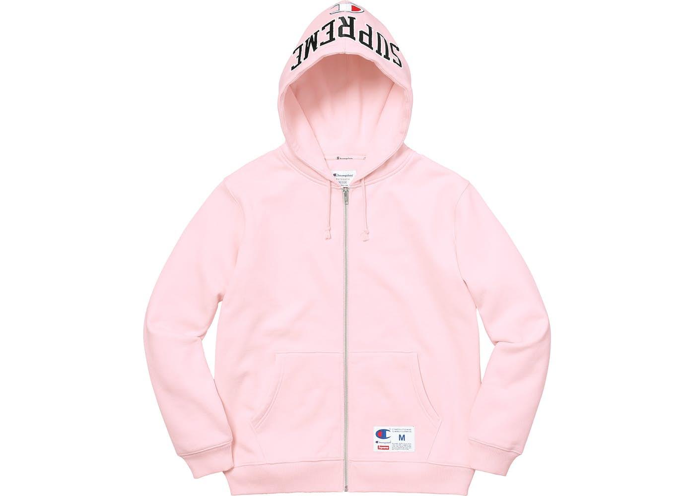 01f84dcd0aad Supreme Champion Arc Logo Zip Up Sweat Light Pink Fall Winter 2017